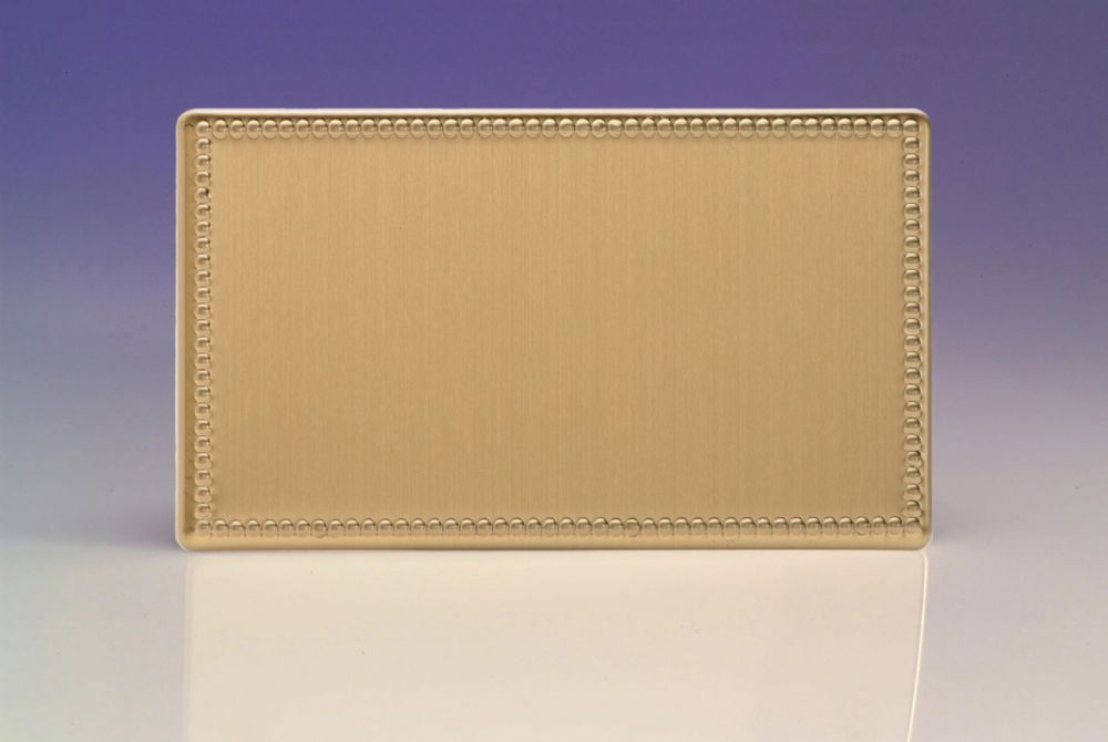 Varilight Double Blank Plate In Screwless Plate Brushed